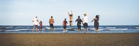 Summer Beach Friendship Holiday Vacation Concept Stock Photos