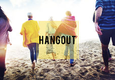 Summer Beach Friendship Holiday Vacation Hangout Concept Royalty Free Stock Photo