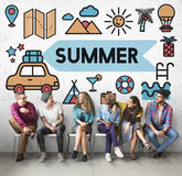 Summer Beach Fun Enjoyment Sun Concept Stock Photo