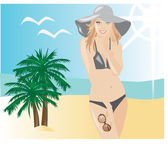 Summer beach fun fashion Royalty Free Stock Photos