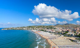 Summer on the beach of Gaeta town, Italy Stock Photography