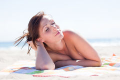 Summer beach girl Stock Images