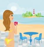 Summer beach girl Stock Photo