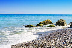 Summer beach in Greece. Royalty Free Stock Photography