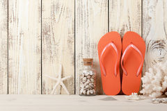 Summer beach holiday background. Copy space Royalty Free Stock Image
