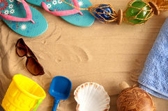 Summer beach holiday background Royalty Free Stock Photos