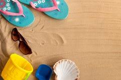 Summer beach holiday background Stock Image