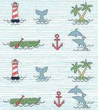 Summer beach holiday pattern. Print vector pattern or background illustration Royalty Free Stock Image