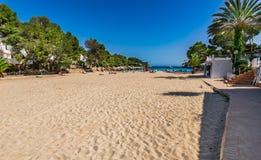Majorca island, beautiful sand beach in Cala Dor royalty free stock photos