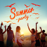 Summer Beach Holiday Vacation Summertime Concept stock photography