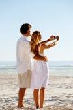 Summer beach honeymoon Stock Image
