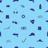 Summer and beach icon set eps10. Blue summer and beach icon set eps10 Stock Illustration