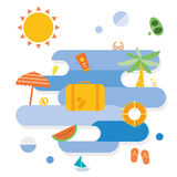 Summer beach icon Royalty Free Stock Images