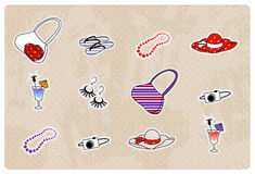 Summer beach icons set Royalty Free Stock Photography