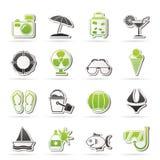 Summer and beach icons Stock Photos