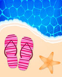 Summer beach illustration Stock Photography