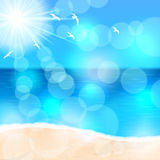 Summer beach illustration Royalty Free Stock Image