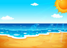 A summer at the beach. Illustration of a summer at the beach Royalty Free Stock Photography