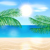 Summer beach illustration Stock Images