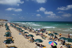 Summer at the Beach in  Israel Royalty Free Stock Image