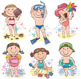 Summer beach kids Stock Image