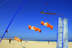 Summer beach kites competition, Trapani Royalty Free Stock Photography
