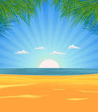 Summer Beach Landscape royalty free illustration