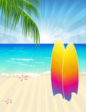Summer Beach royalty free illustration