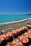Summer beach. Lavagna. Liguria. Italy Royalty Free Stock Photography