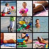 Summer Beach Life Collage Stock Photos