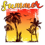 Summer beach logo symbol vector illustration isolated on white background Stock Image