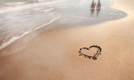 Summer beach love walk Royalty Free Stock Image