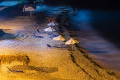 Summer beach night view (Albania) Royalty Free Stock Photography