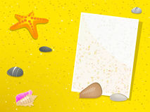 Summer beach note Royalty Free Stock Photos