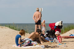 Summer on a beach in a Palanga Stock Images