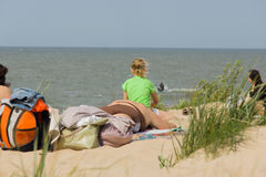 Summer on a beach in a Palanga Stock Photo