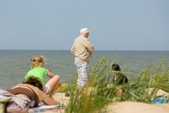 Summer on a beach in a Palanga Royalty Free Stock Photos