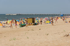Summer on a beach in a Palanga Royalty Free Stock Image