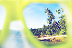Summer Beach Paradise Landscape Exoticism Concept Stock Photos
