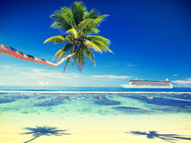 Summer Beach Paradise Travel Destination Concept Royalty Free Stock Photo