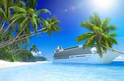 Summer Beach Paradise Travel Destination Concept Stock Image