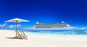 Summer Beach Paradise Travel Destination Concept Royalty Free Stock Images