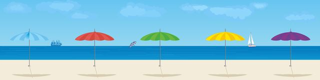 Parasols Royalty Free Stock Image