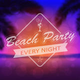 Summer Beach Party Background Stock Photography