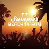 Summer beach party background Stock Images