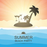 Summer Beach Party Background Stock Photos
