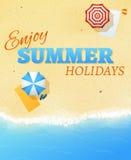 Summer beach party banner flyer background vector template vector illustration
