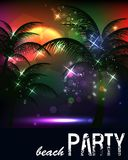 Summer Beach Party Flyer. Invitation card with a picture of the sunset Royalty Free Stock Photo
