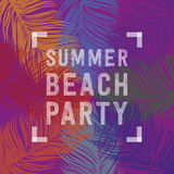 Summer beach party Royalty Free Stock Photos