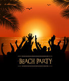 Summer Beach Party Flyer Stock Image